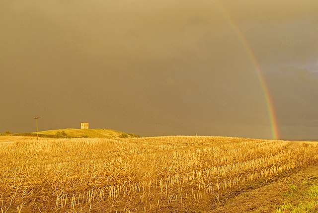 Rainbow over Billinge Hill - geograph.org.uk - 920092