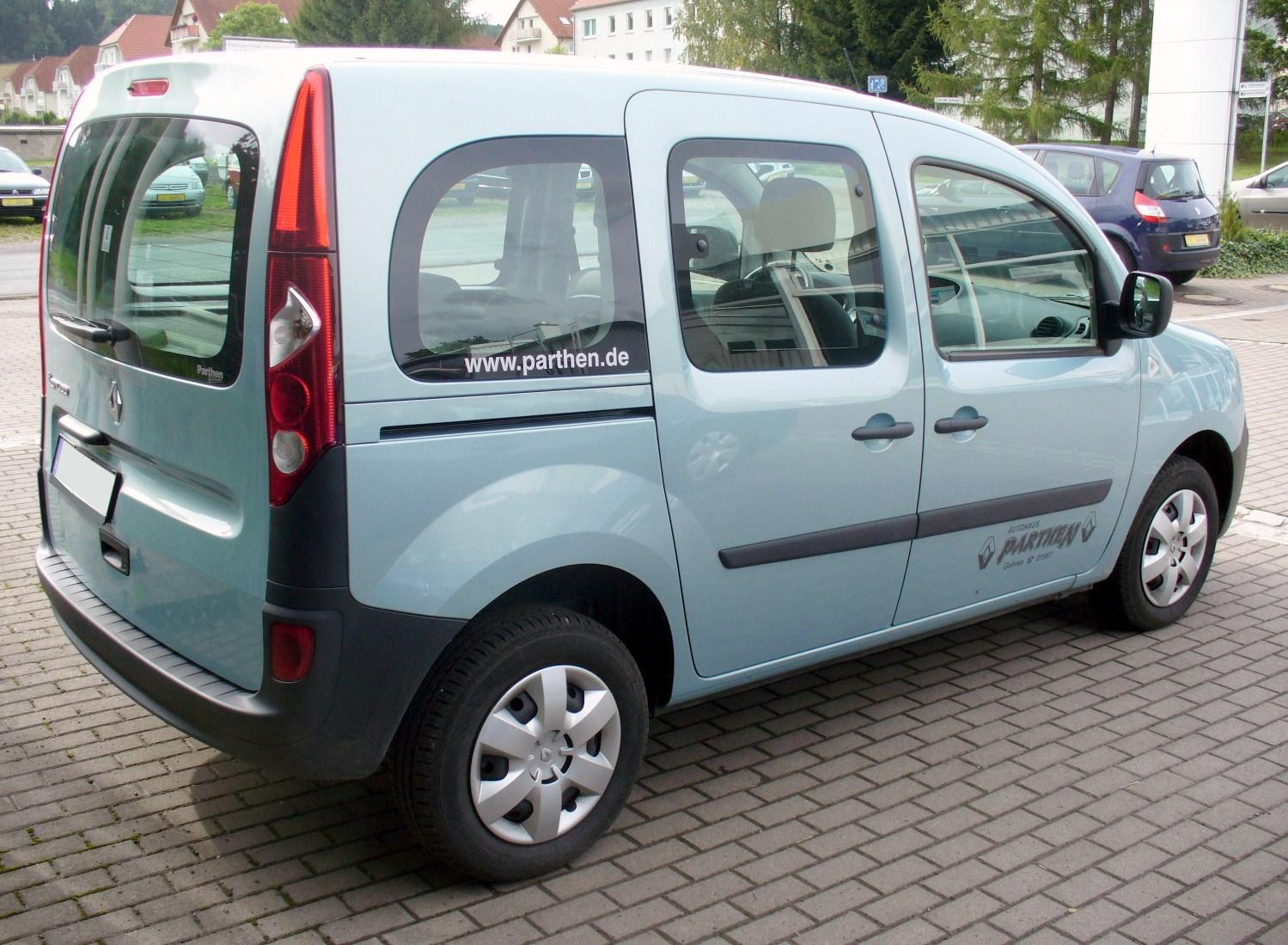 file renault kangoo ii phase i mint blau heck jpg. Black Bedroom Furniture Sets. Home Design Ideas