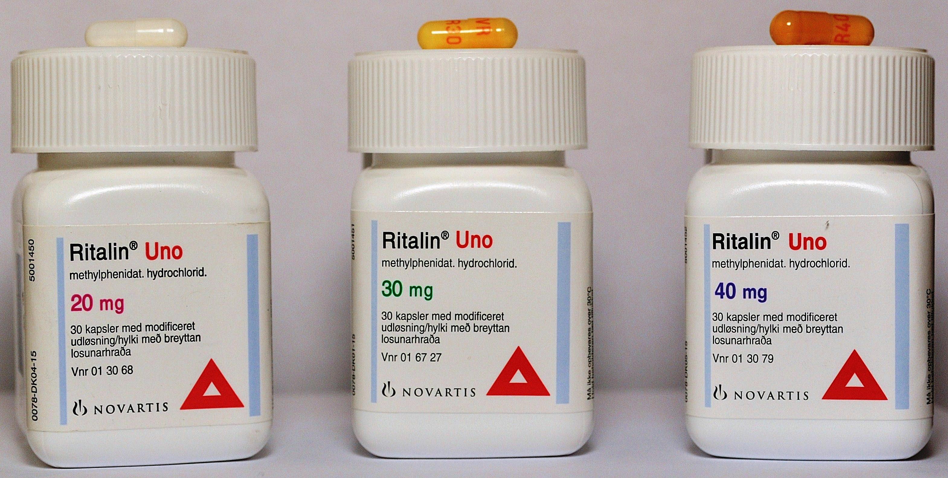 ritalin uno 30mg bivirkninger