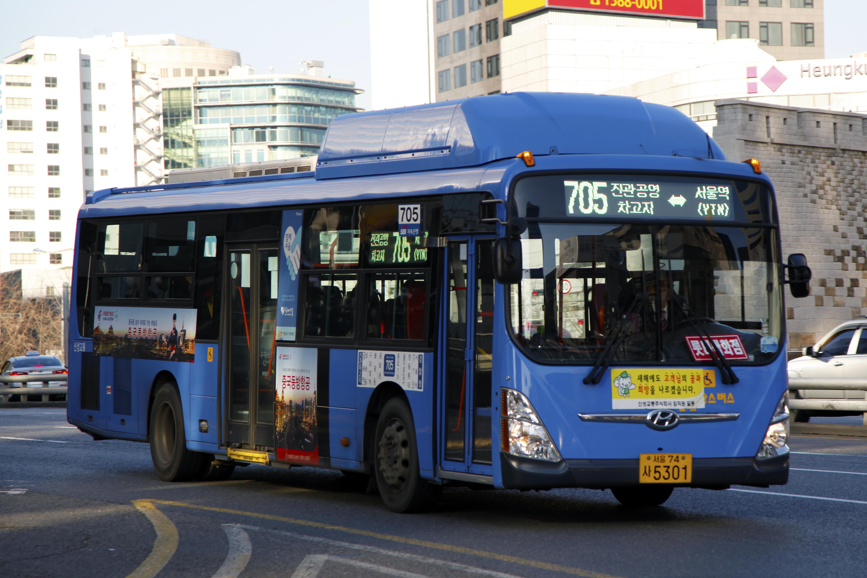 file seoul bus 705 hyundai super aero city wheelchair accessible low entrance namdaemun. Black Bedroom Furniture Sets. Home Design Ideas