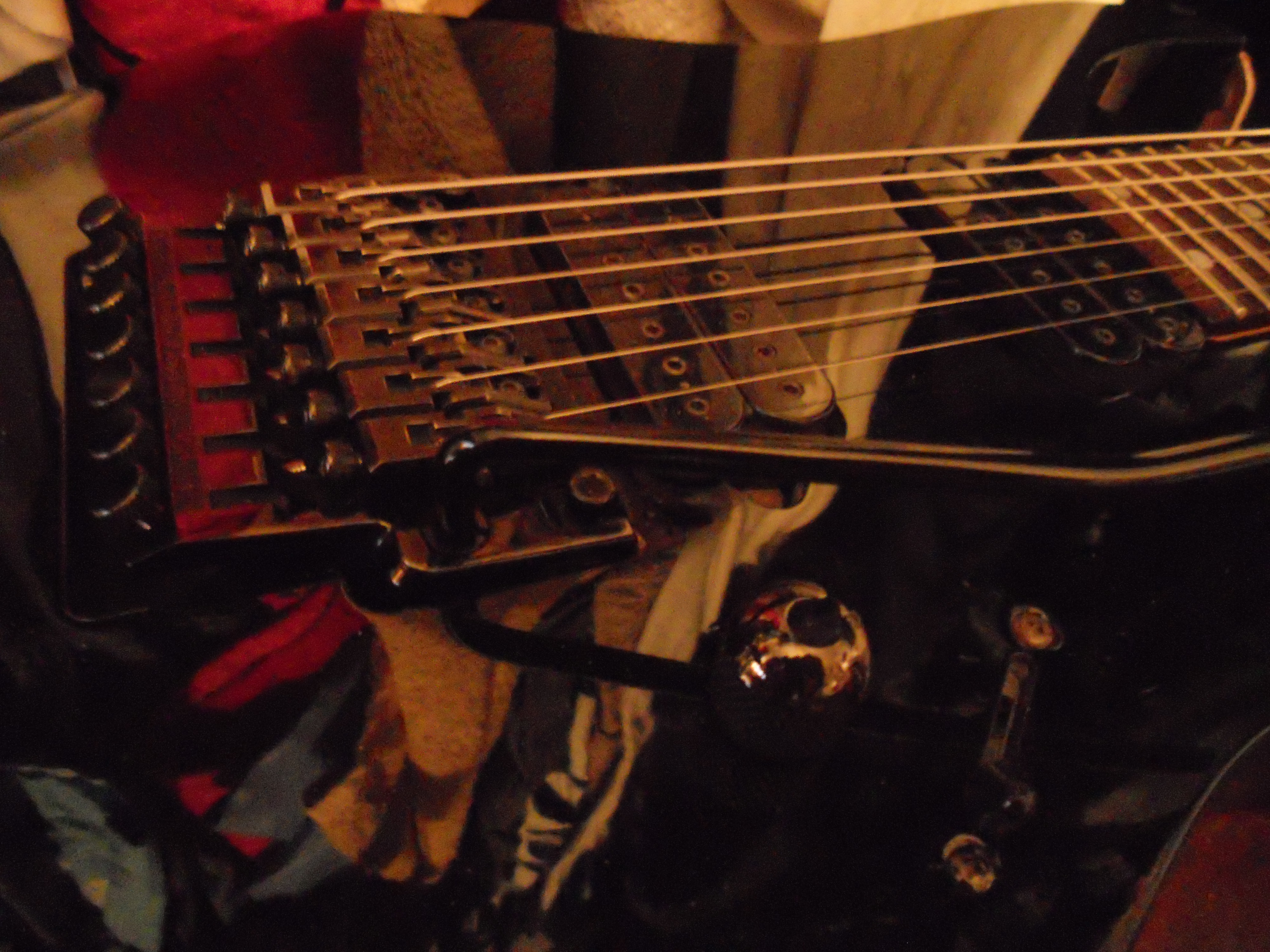 File:Seven strings guitar with tremolo floating bridge JPG