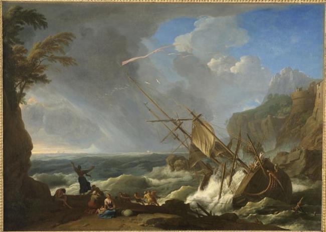 Shipwreck, Adrien Manglard, Musée d'Art et d'Archéologie de Guéret