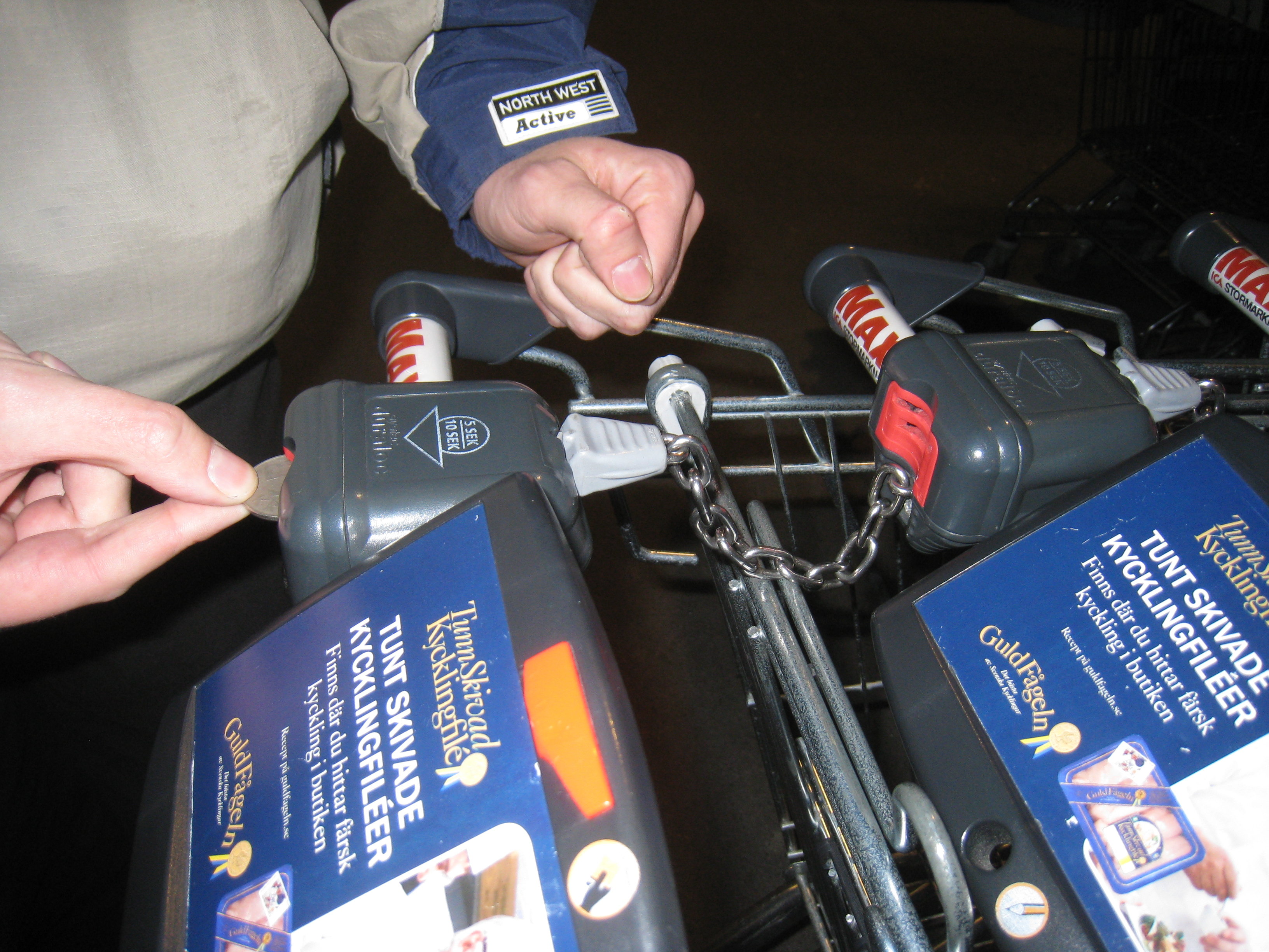 shopping cart coin release