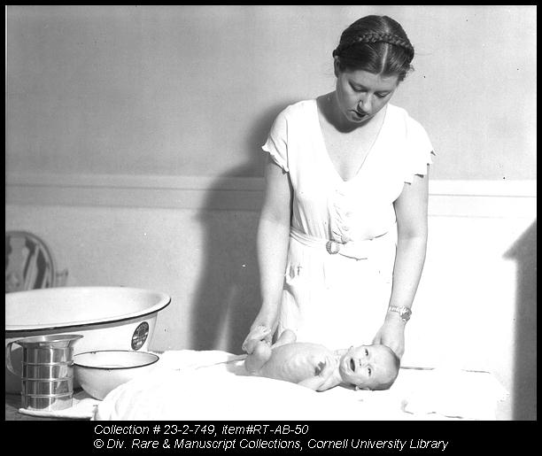 The Baby's Bath. Each student in the homemaking apartments takes entire responsibility for the - (3857207494)