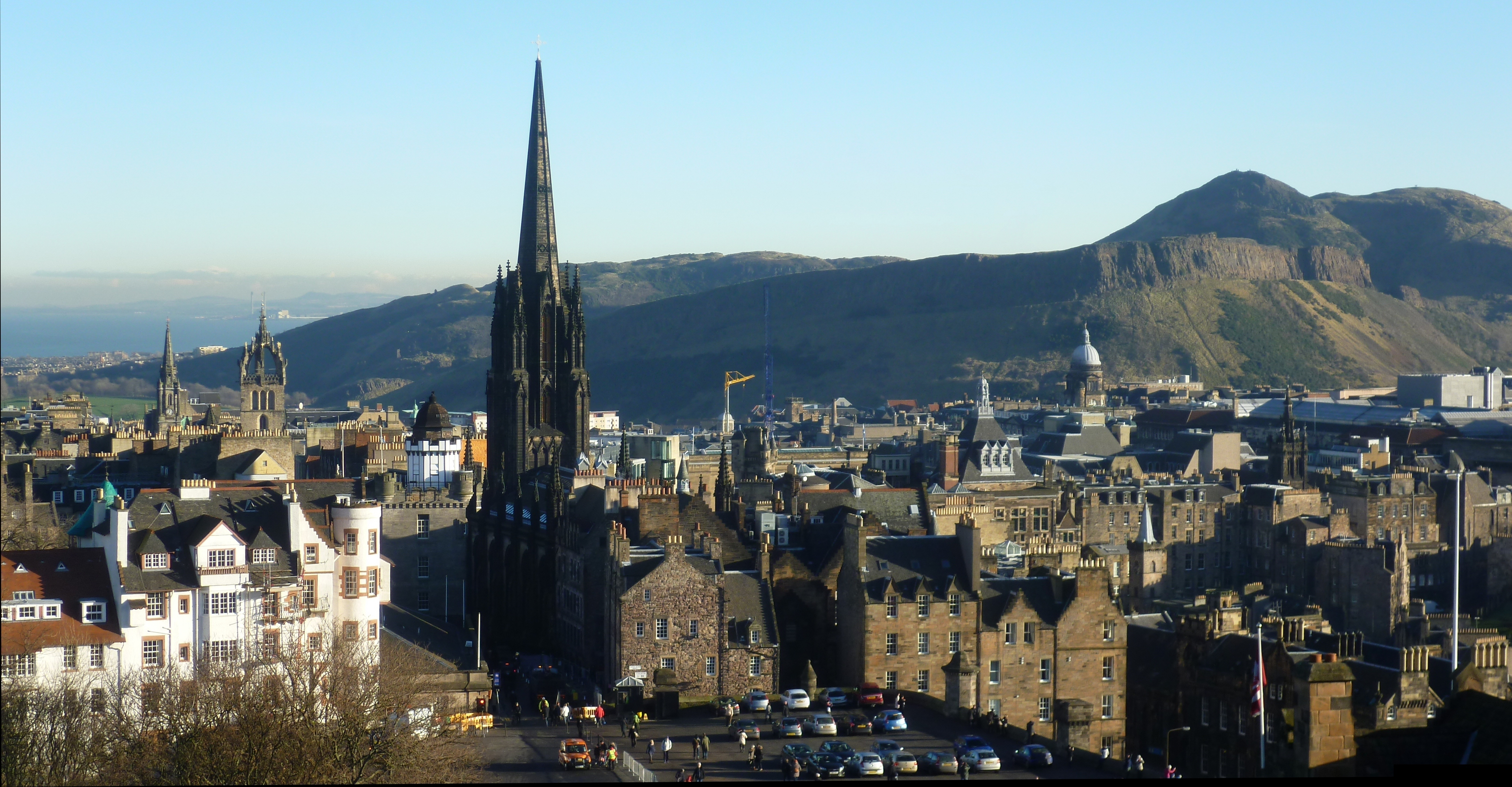 File The Hub seen from Edinburgh Castle posite