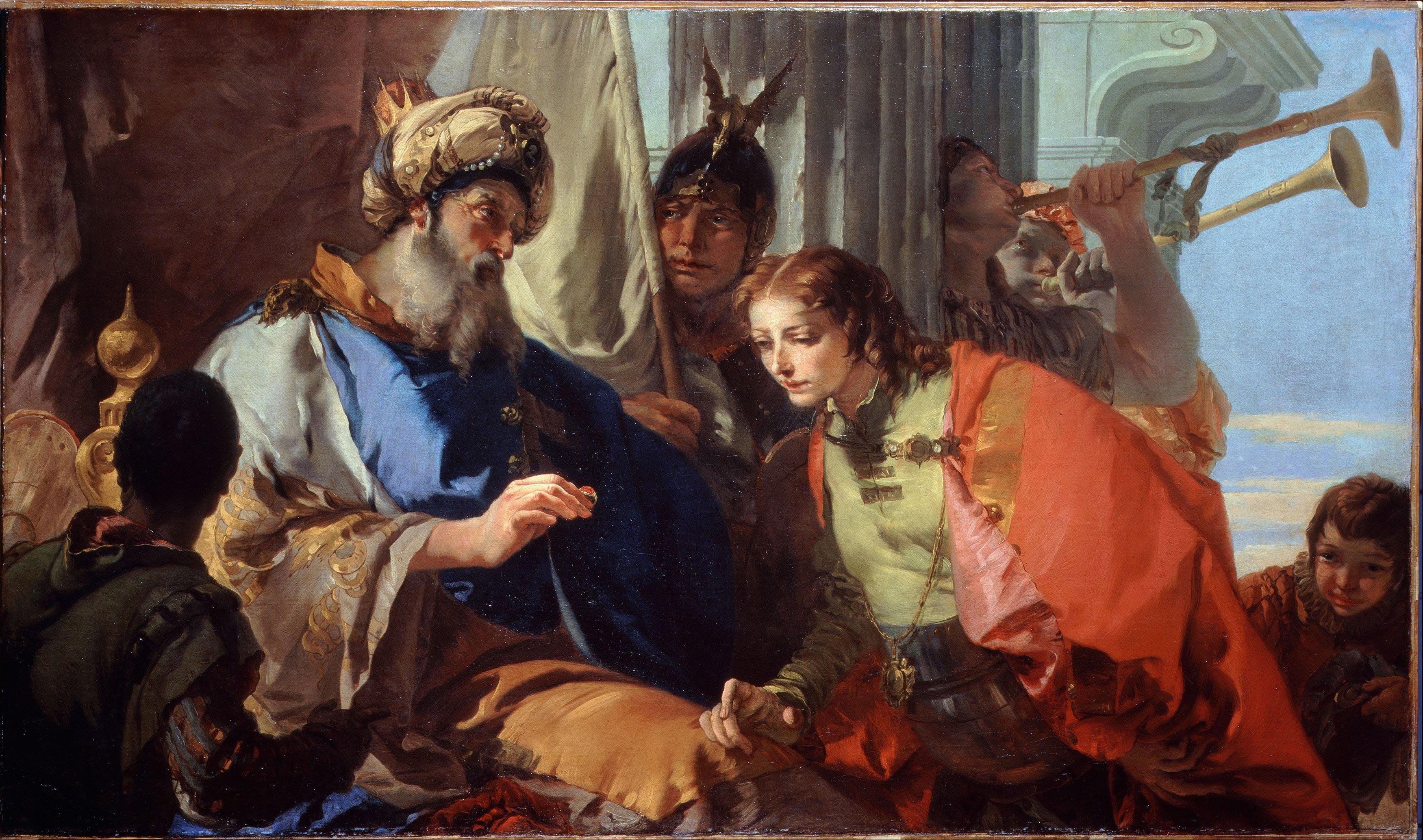 Joseph And Pharaoh Oil Painting