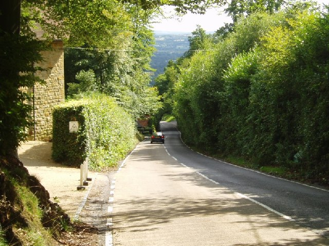 File Toys Hill The Road South Towards Four Elms Geograph Org Uk