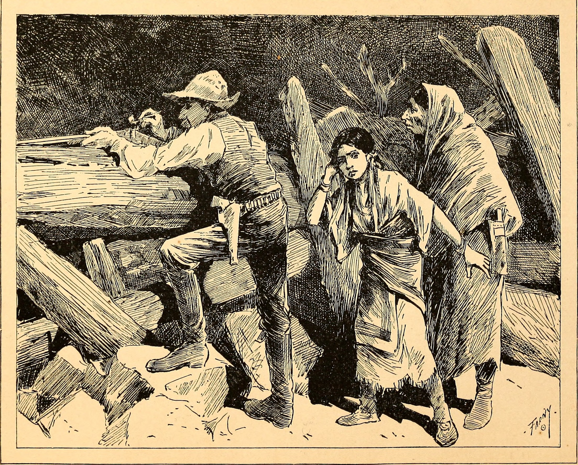 Illustration of ''Two arrows - a story of red and white'' (1886)
