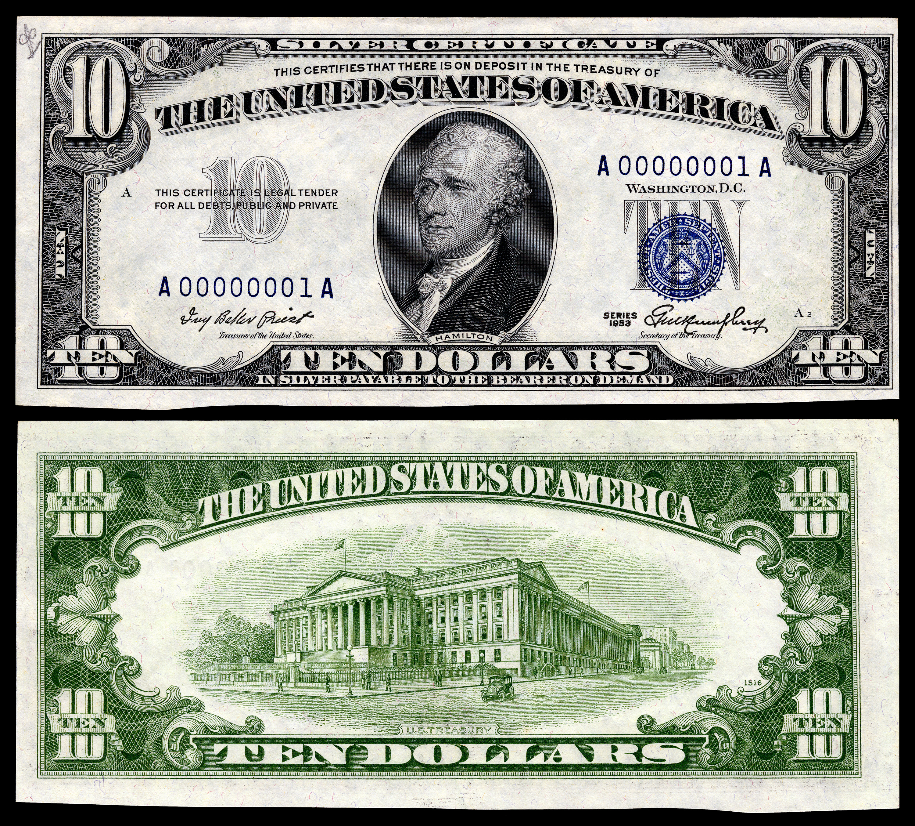 I Found A Ten Dollar Bill From 1950 The Flag Above The