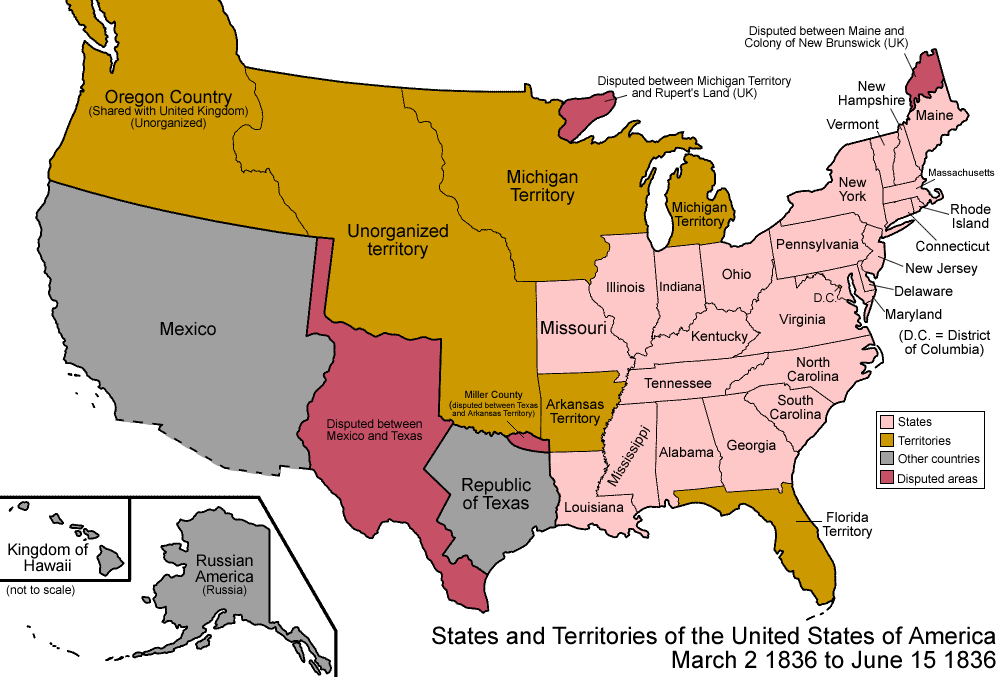 Map Of Texas 1836.File United States 1836 03 1836 06 Png Wikimedia Commons