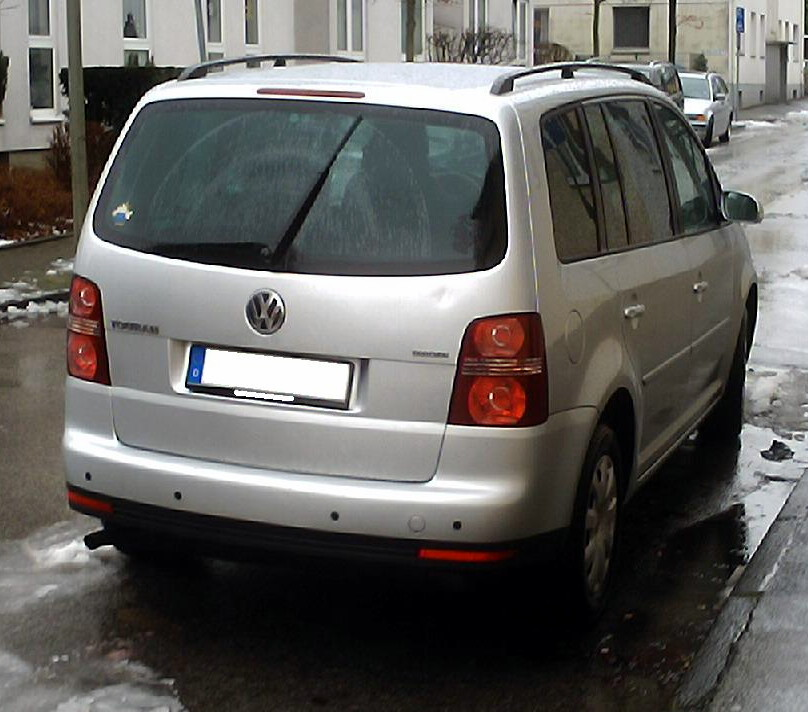 File:VW Touran EcoFuel 2008 heck.jpg - Wikimedia Commons