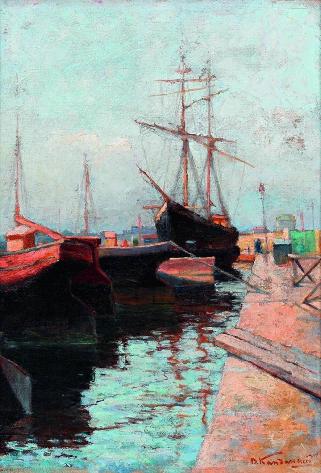 hafen von odessa 1898 tretjakow galerie moskau wassily kandinsky - Wassily Kandinsky Lebenslauf