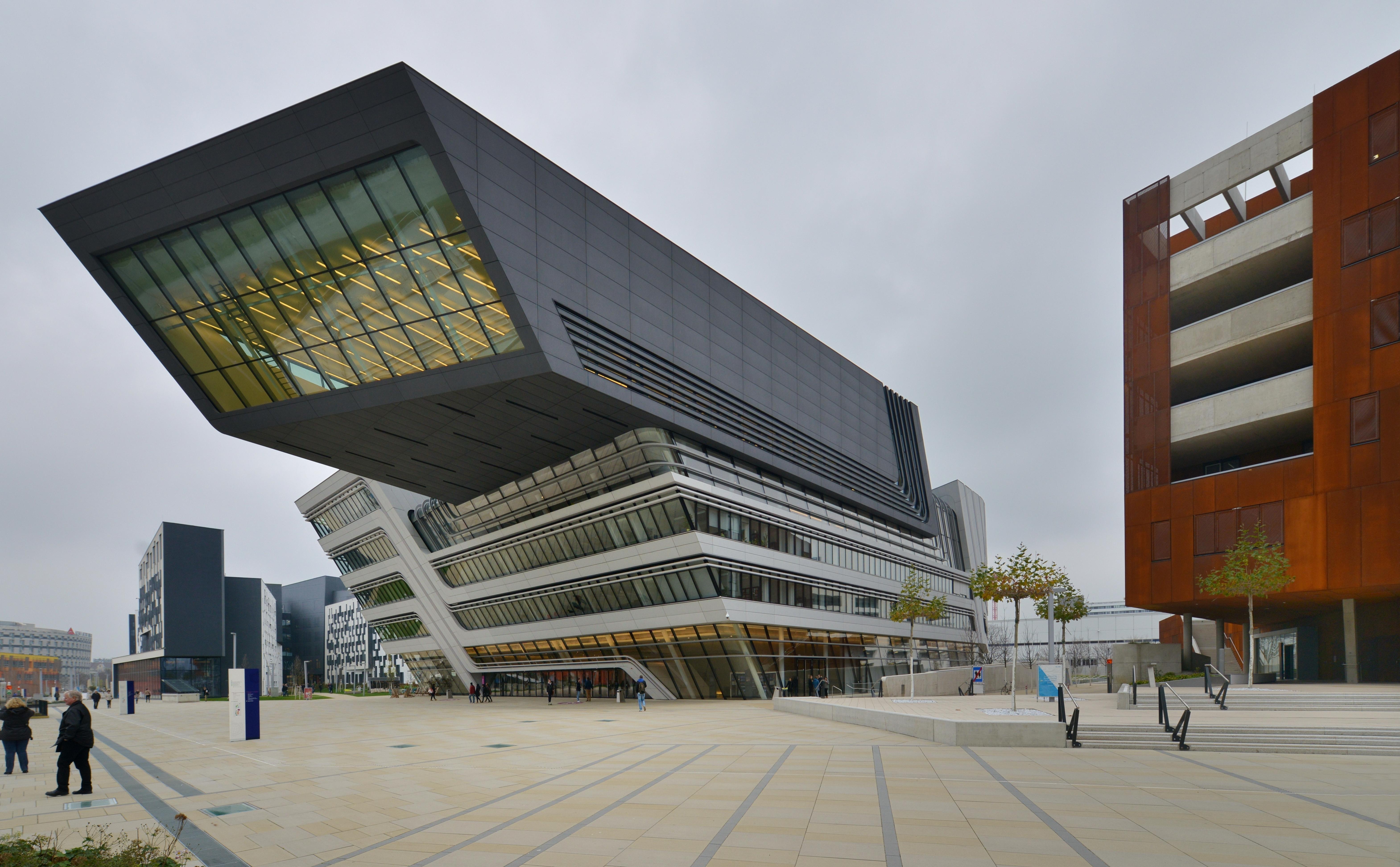 filewu wien library learning center zaha hadid 009 - Modern Architecture Vienna