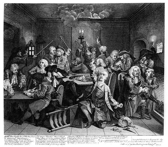 William Hogarth, A Rake's Progress, Plate 6