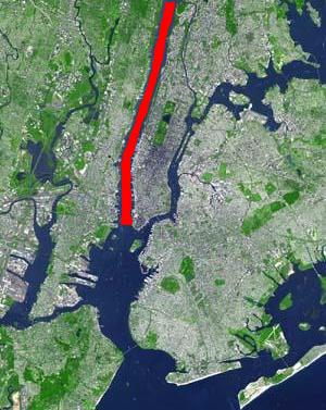 North River in red, if defined as portion between New Jersey and Manhattan.