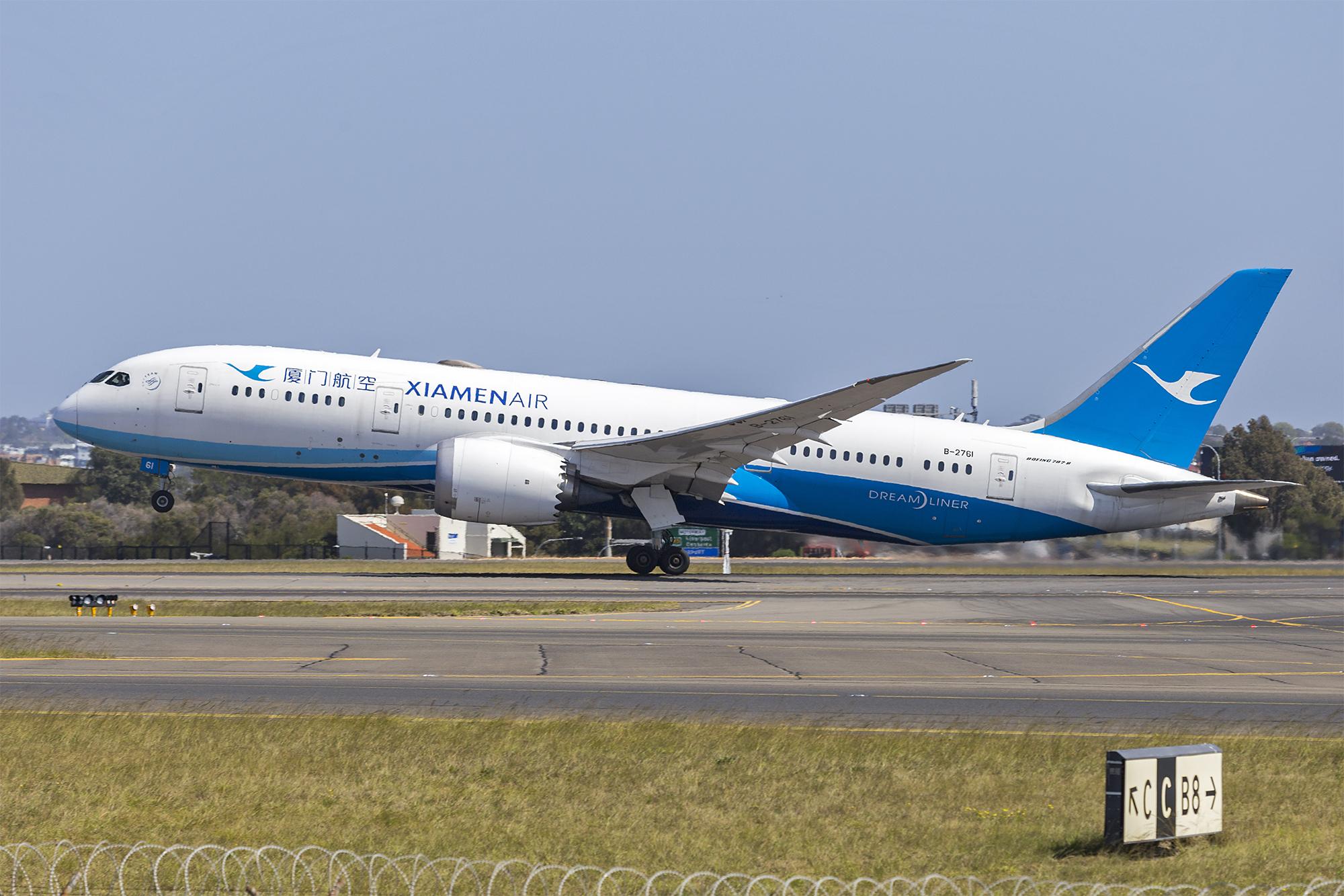 File:Xiamen Air (B-2761) Boeing 787-8 Dreamliner at Sydney