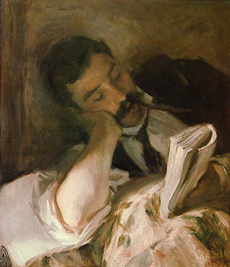 'Man Reading' by John Singer Sargent, Reading Public Museum