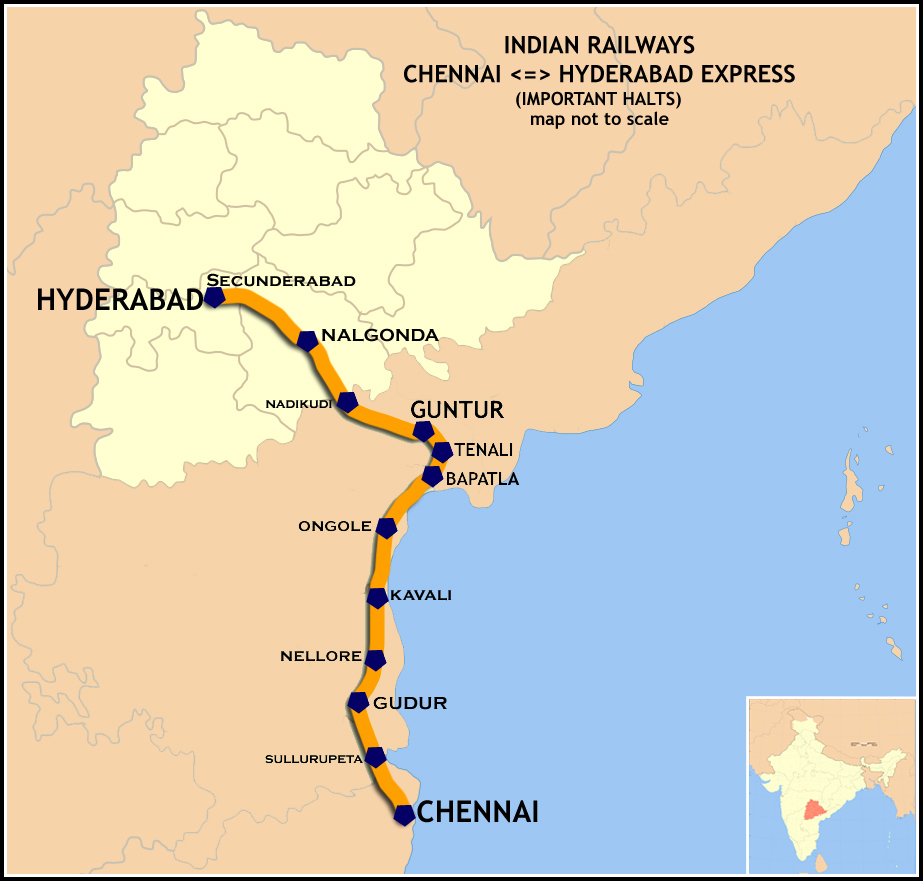 Maps Multiple Stops >> Hyderabad express - Wikipedia