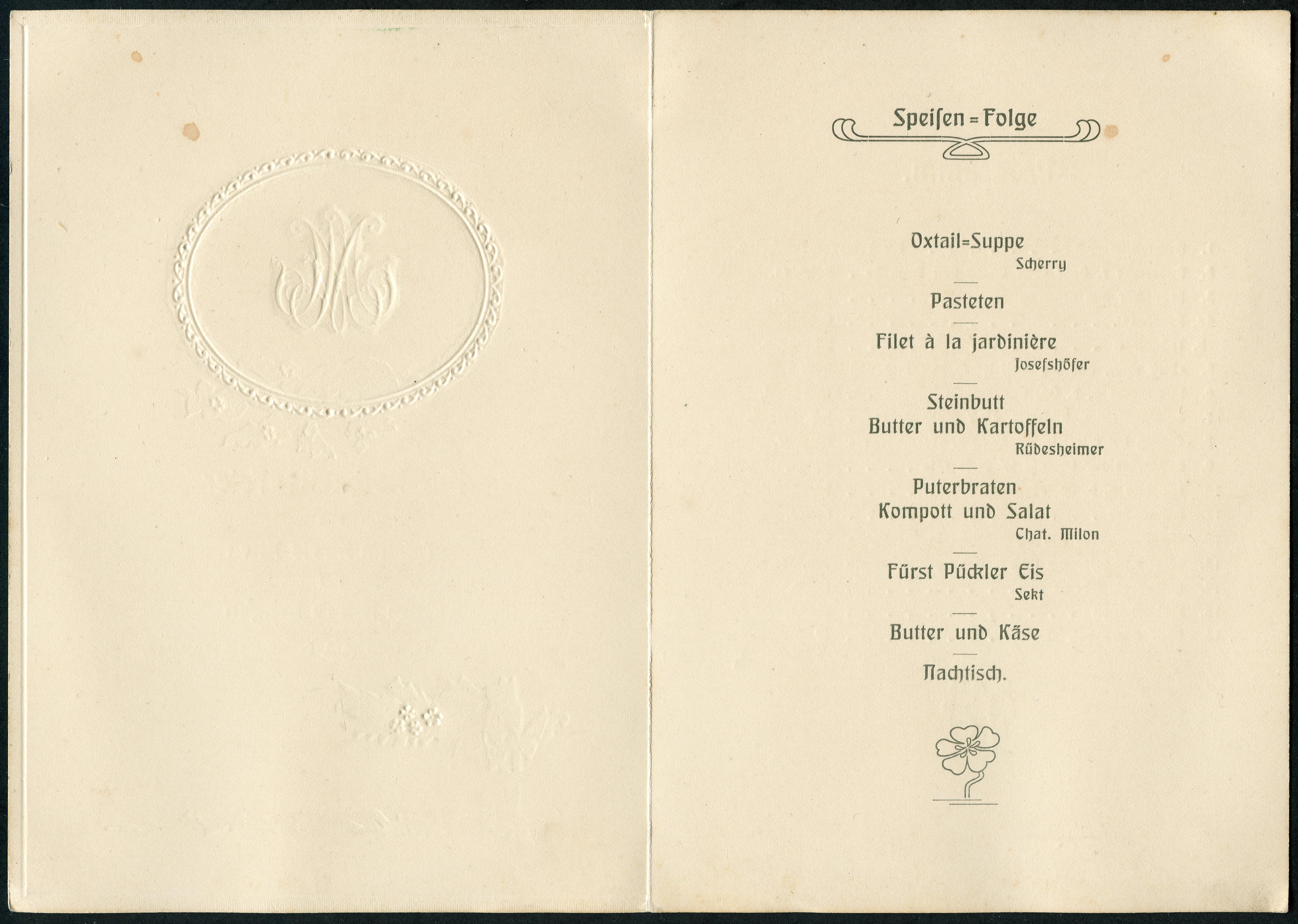 File 1910 04 16 Einladung Prage Klappkarte Hochzeitsfeier Marie