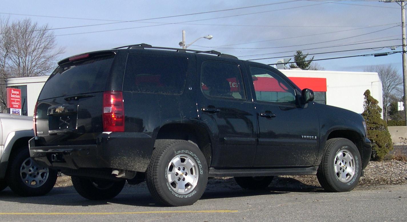 File:2007 Chevrolet Tahoe rear jpg - Wikimedia Commons