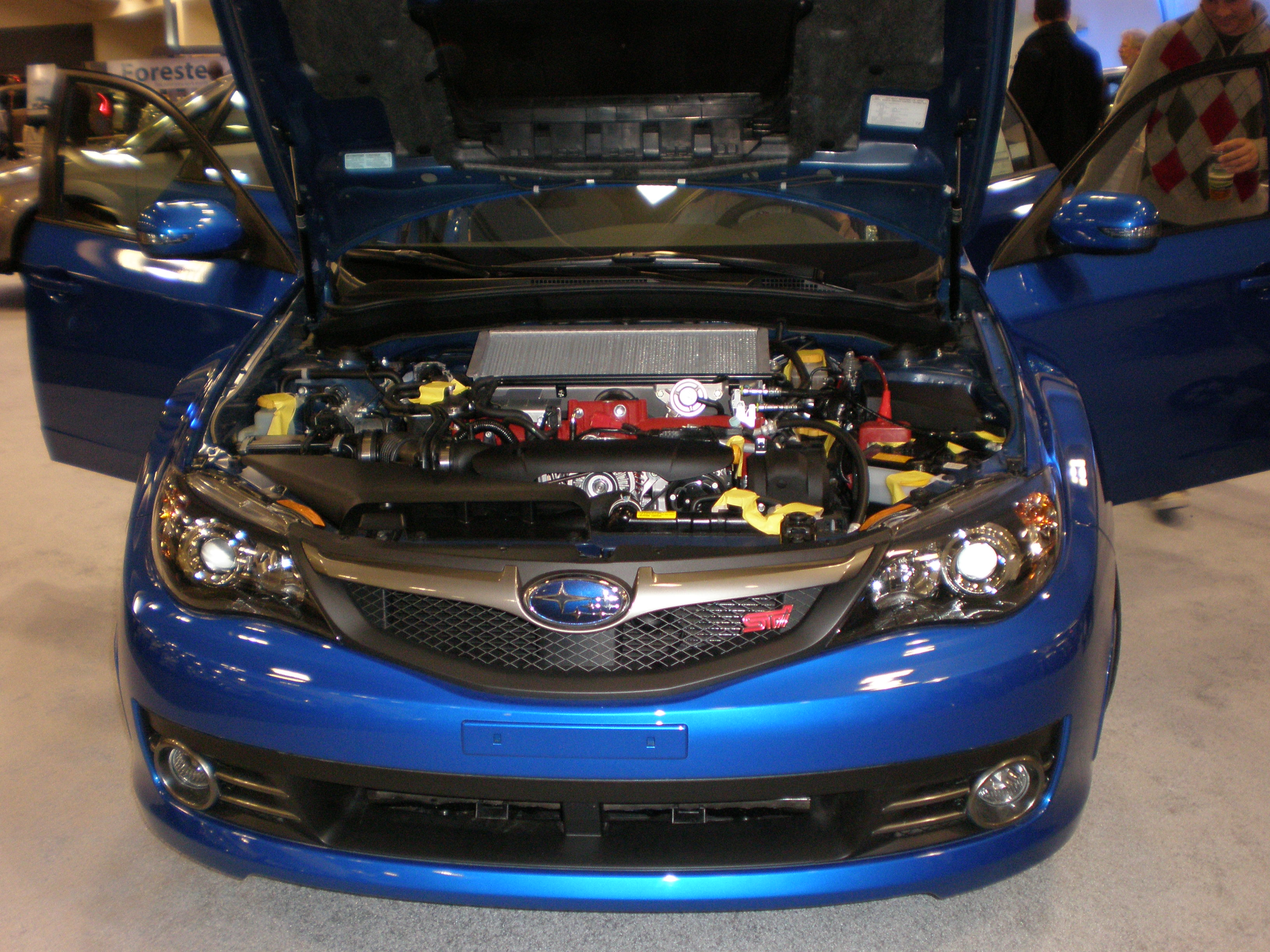File 2009 Blue Subaru Impreza Wrx Sti Engine Jpg