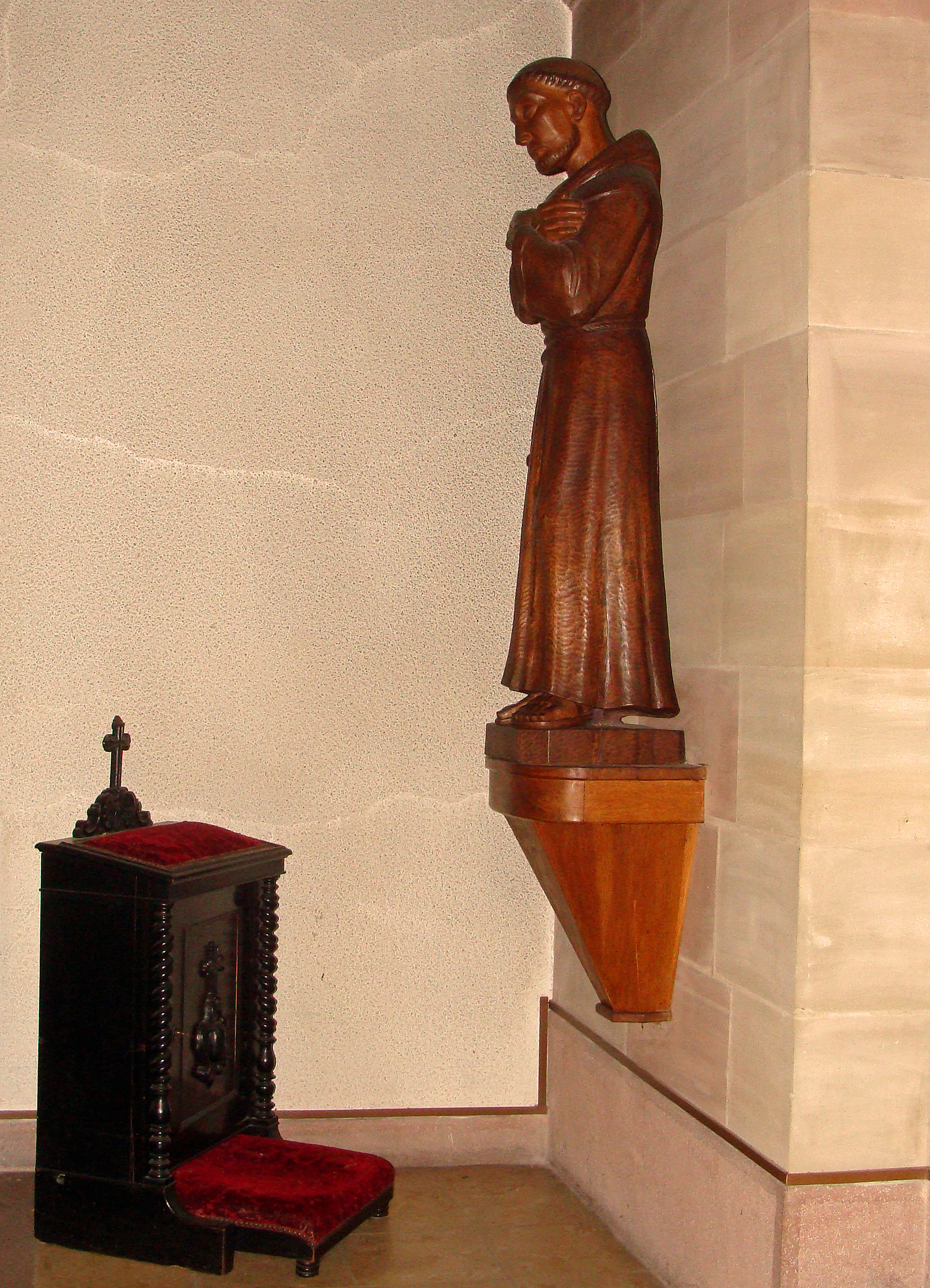 file abbaye martin des glandi 232 res chapelle statue de fran 231 ois d assise jpg