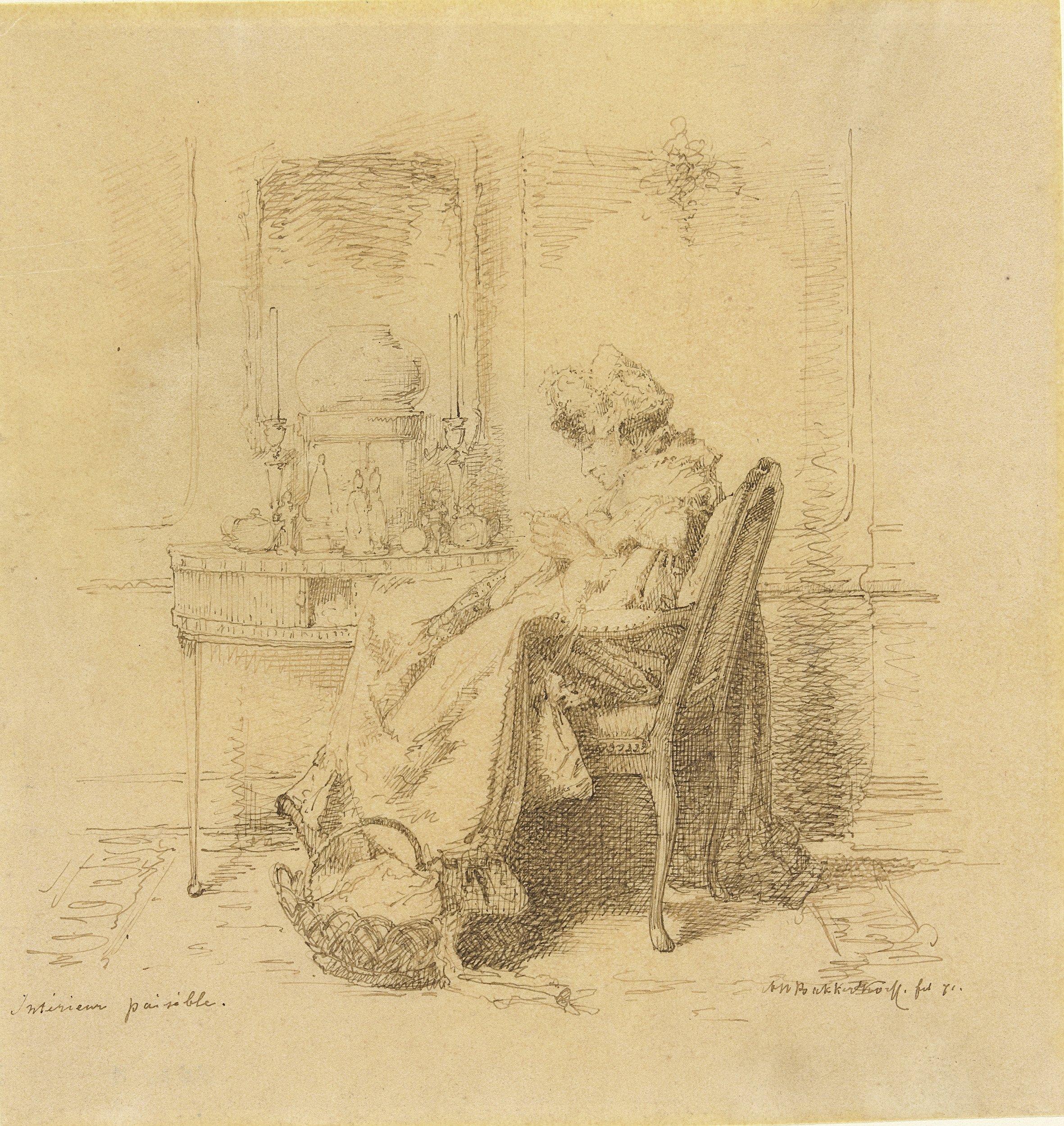 https://upload.wikimedia.org/wikipedia/commons/a/af/Alexander_Hugo_Bakker_Korff_-_Interieur_paisible%2C_breiende_oude_dame.jpg