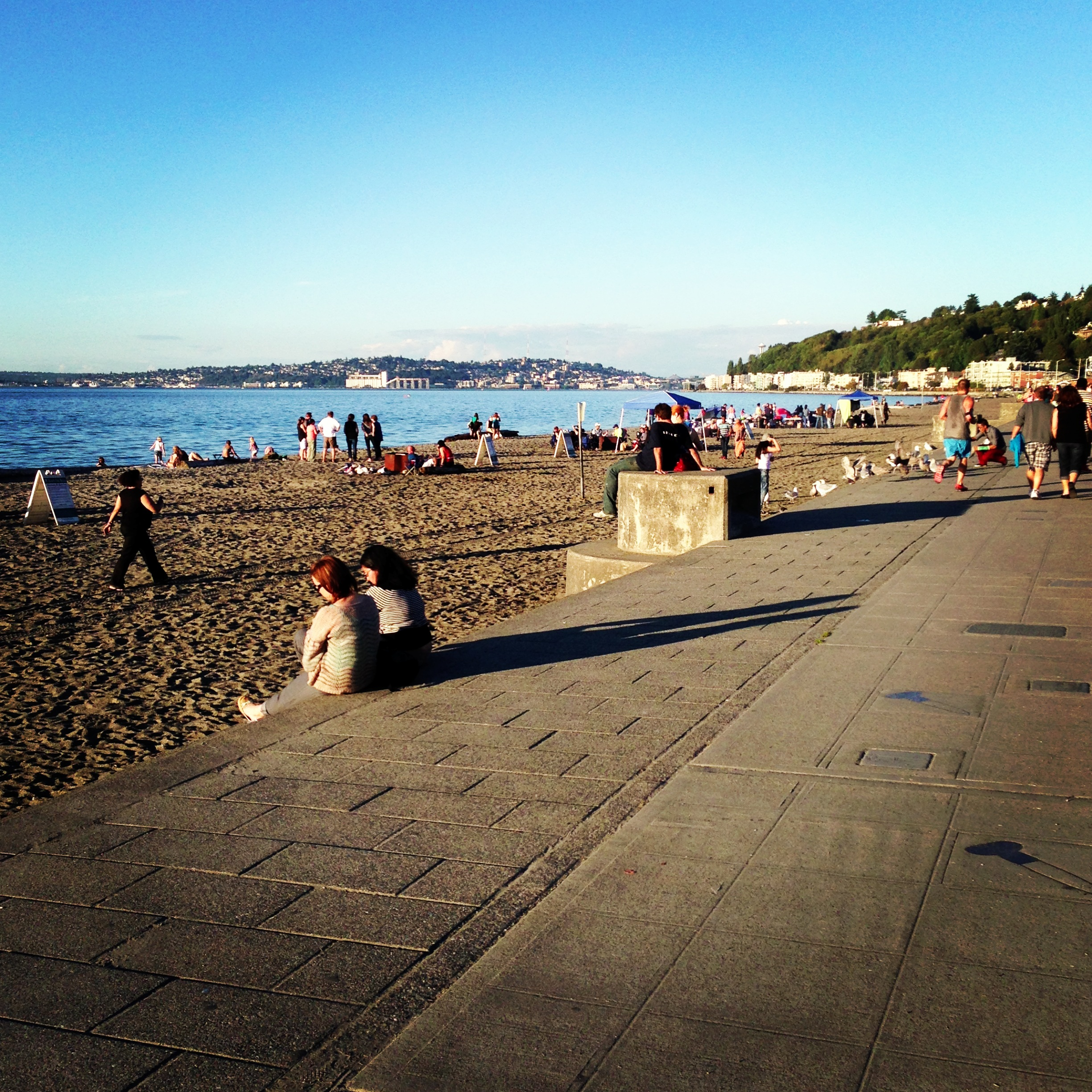 Alki Beach in West Seattle, Washington, USA wallpapers and