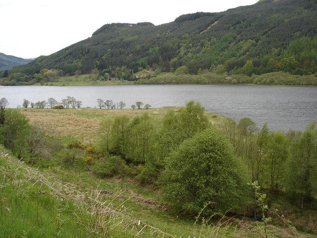 Alluvial Fan on Loch Lubnaig - geograph.org.uk - 174340