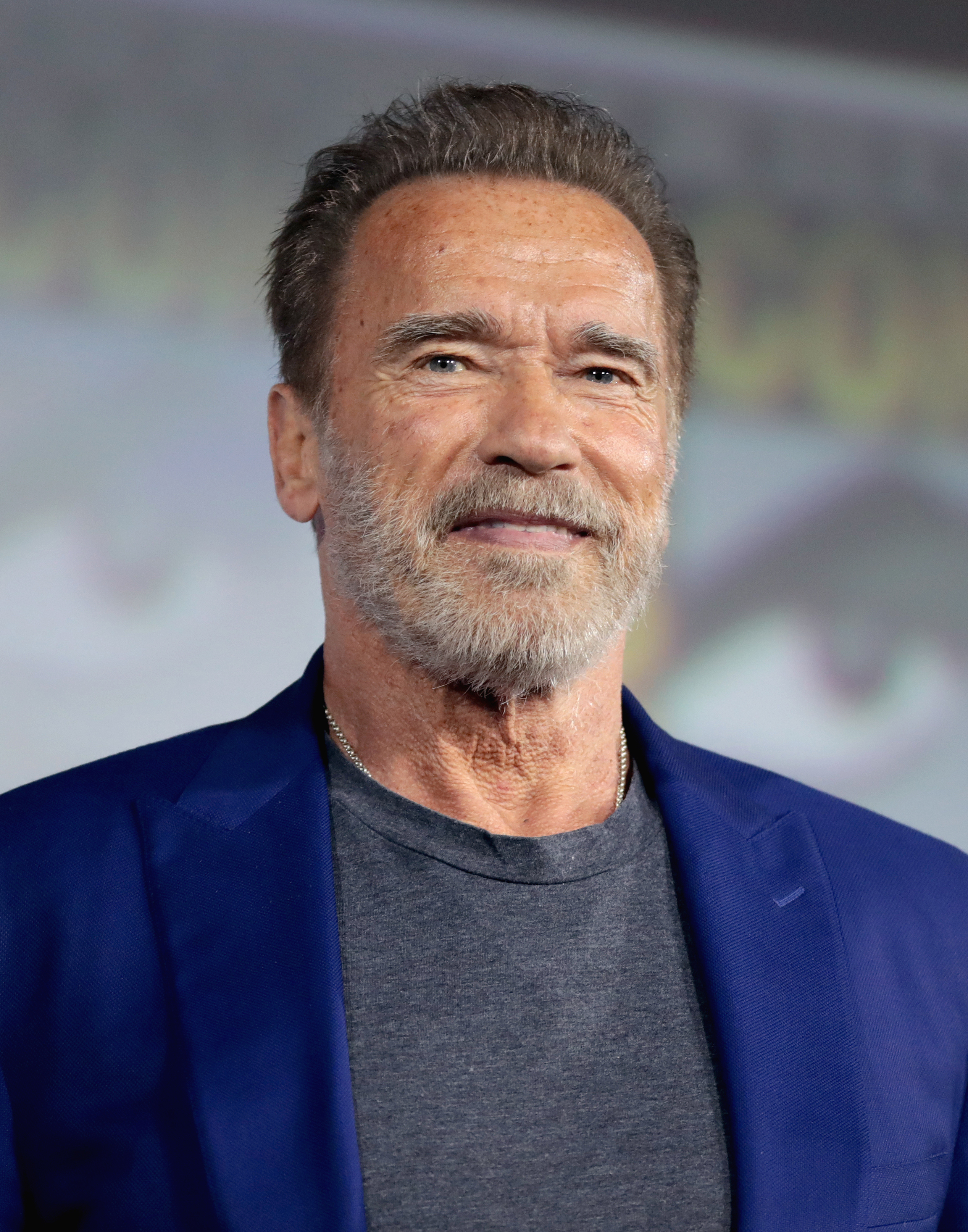 Schwarzenegger at the 2019 [[San Diego Comic-Con]]