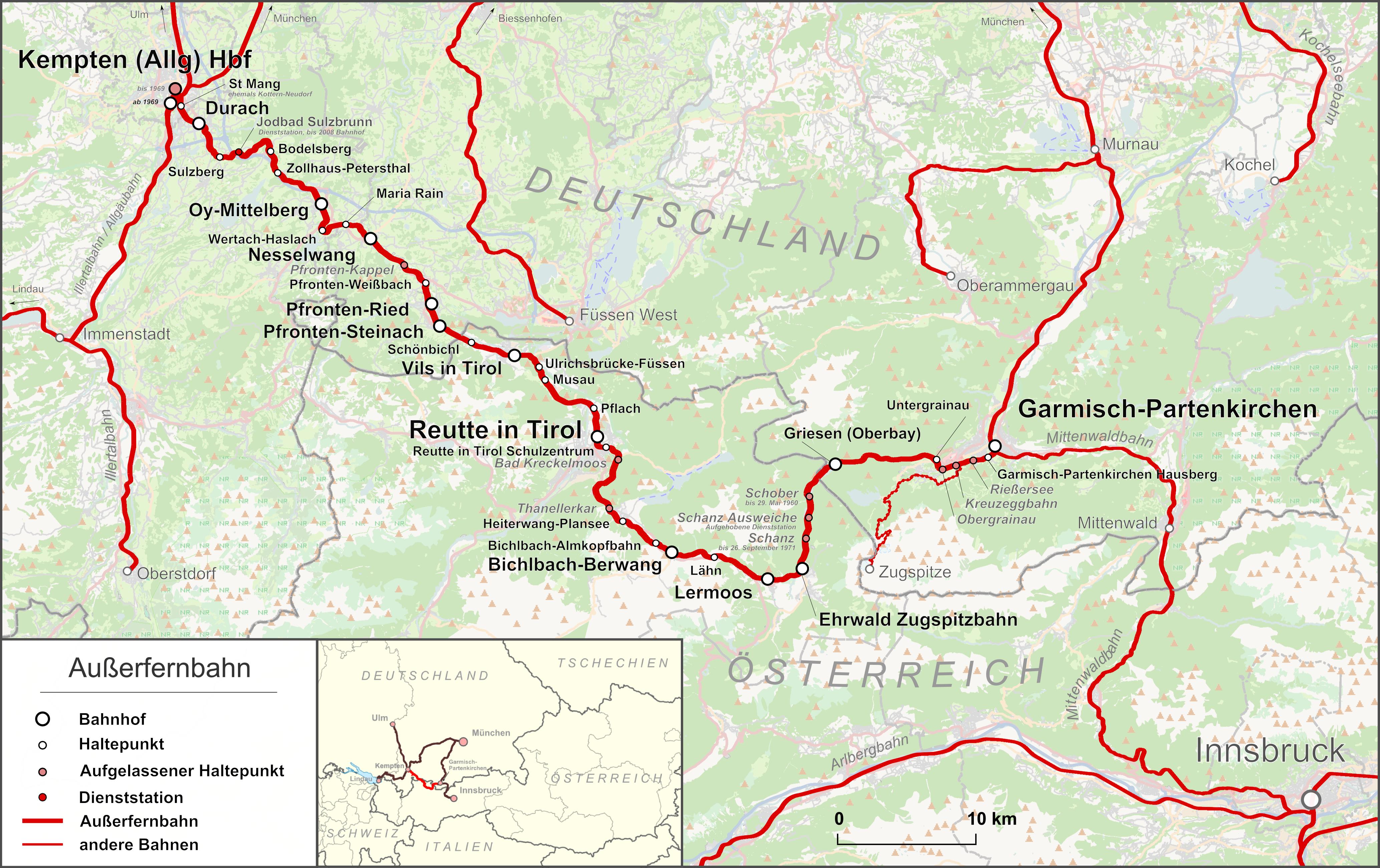 Außerfernbahn Wikipedia