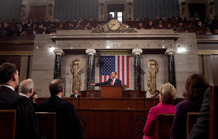 Barack Obama adresses to Congress