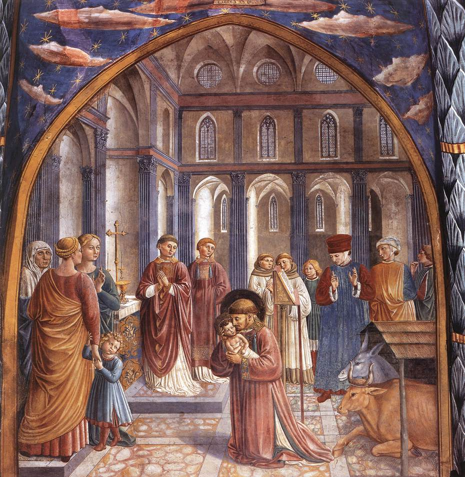 Benozzo Gozzoli - Scenes from the Life of St Francis (Scene 9, north wall) - WGA10240.jpg