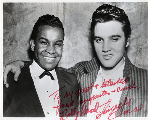 Billy Ward con Elvis nel 1955