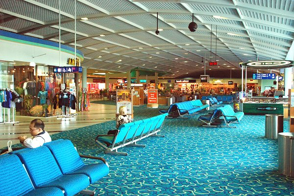 Cairns airport boarding room