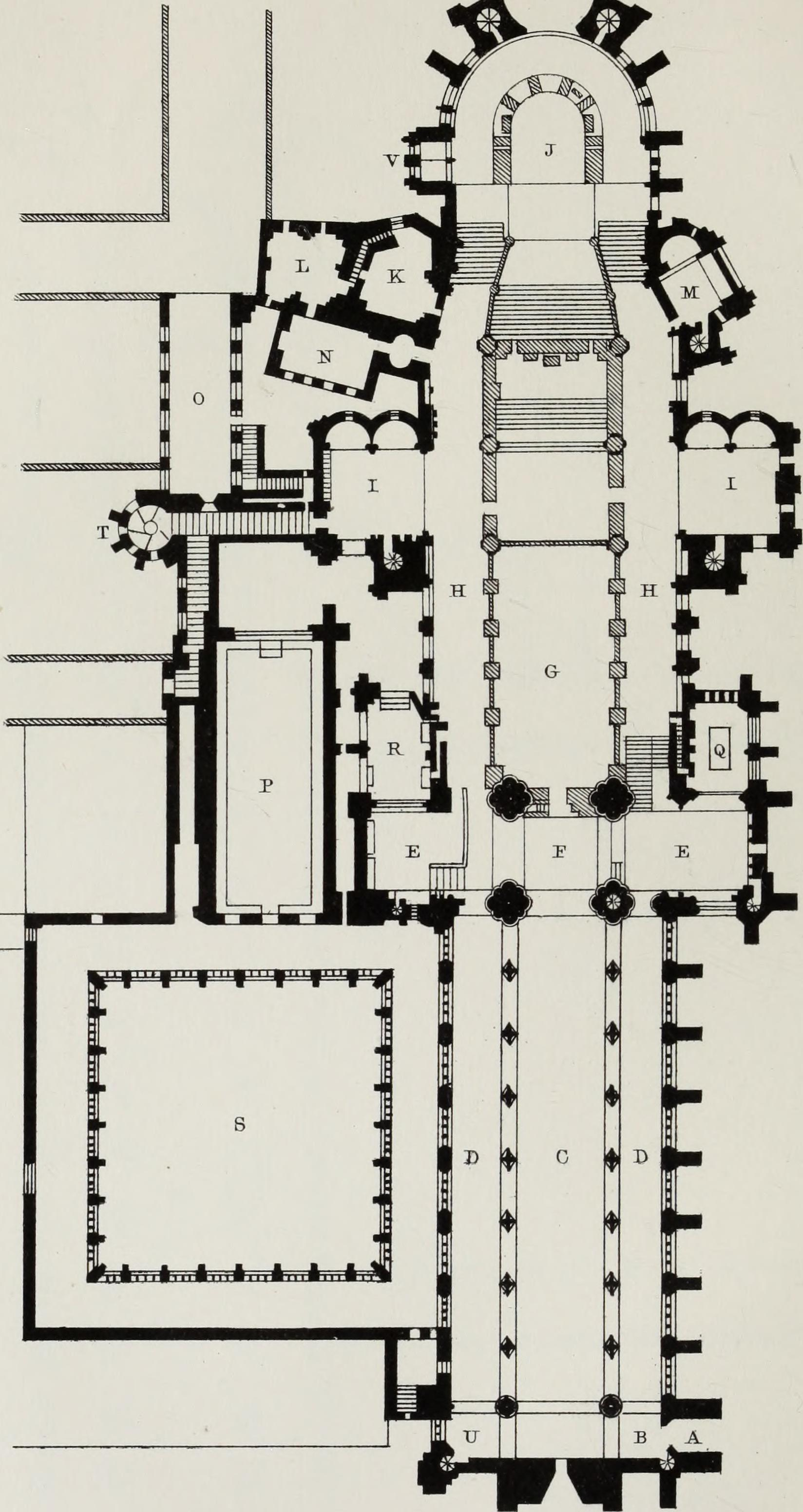 File:Church and conventual arrangement  With copious