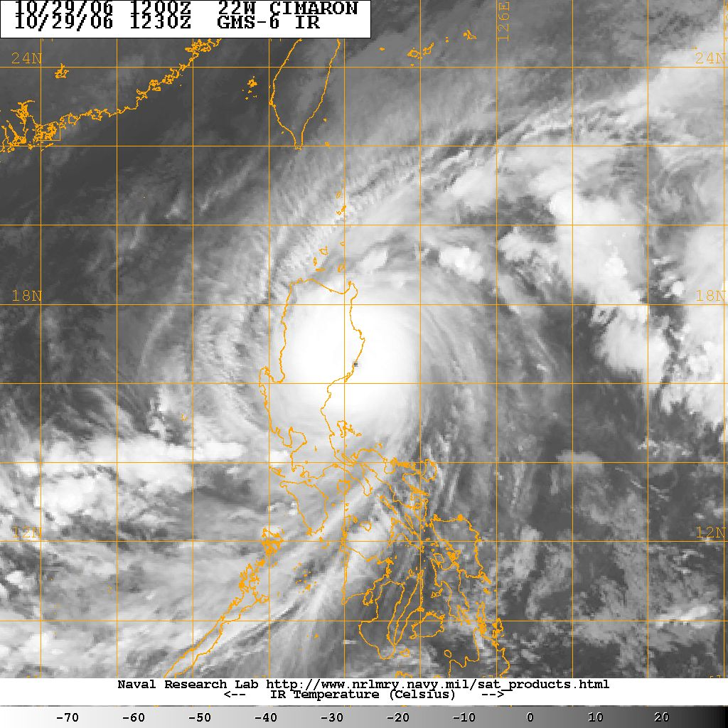 deadly typhoon cimaron makes landfall in luzon
