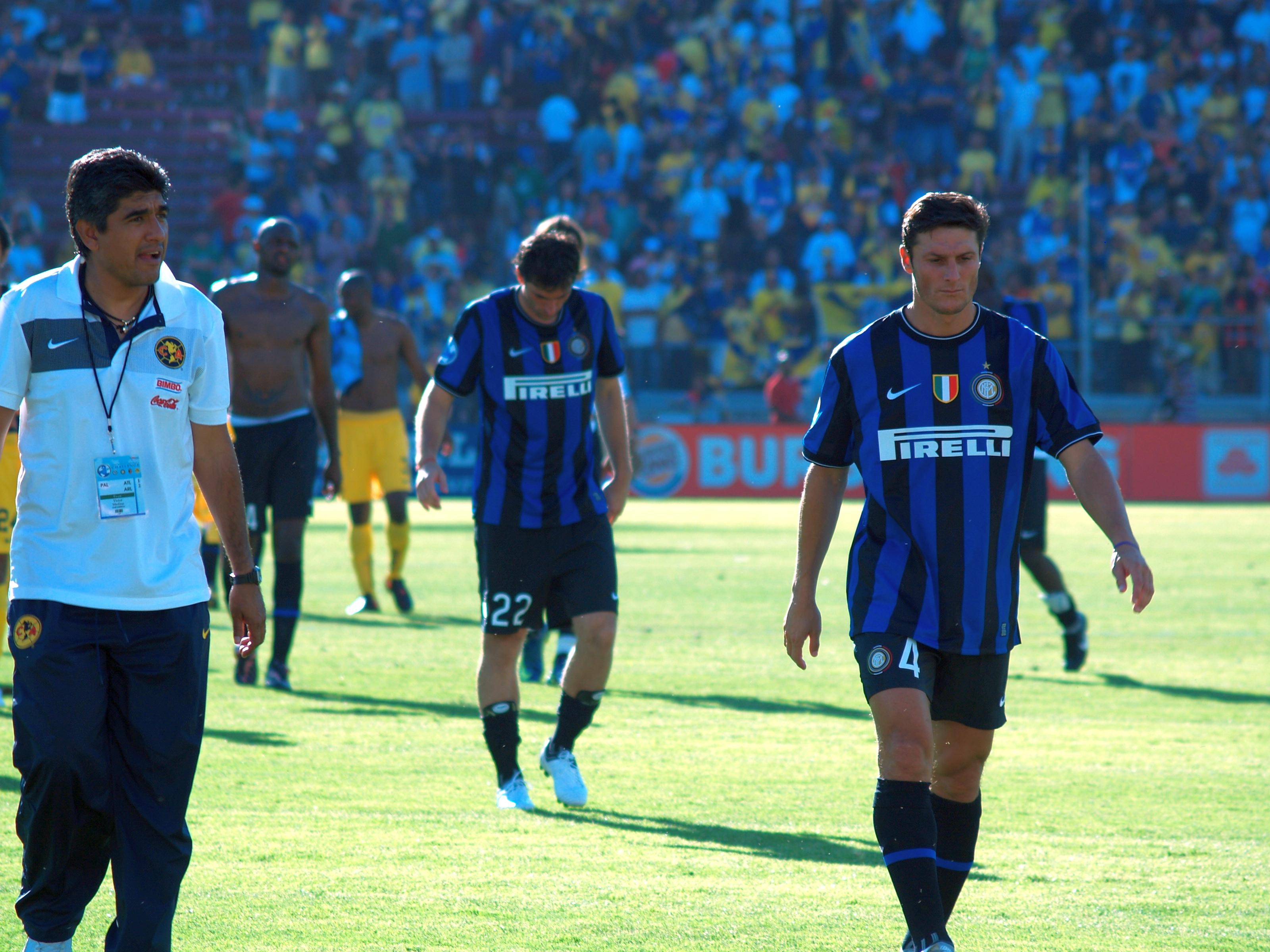 File Club América v Inter Milan 2009 Javier Zanetti