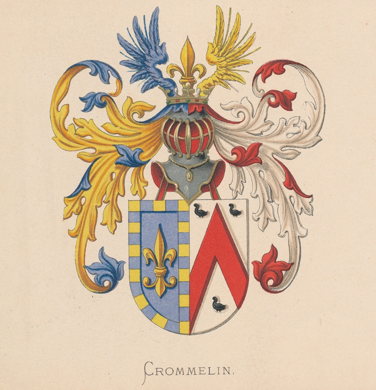 Bestandcoat Of Arms Of The Crommelin Family With The French Lily