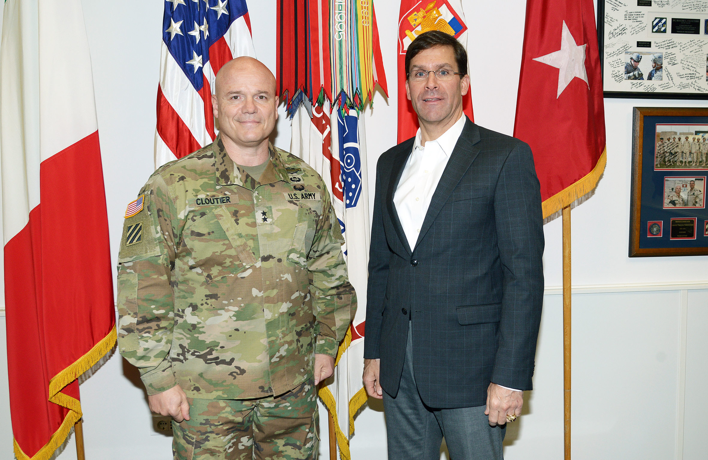 File:Dr  Mark T  Esper, Secretary of the Army, visits