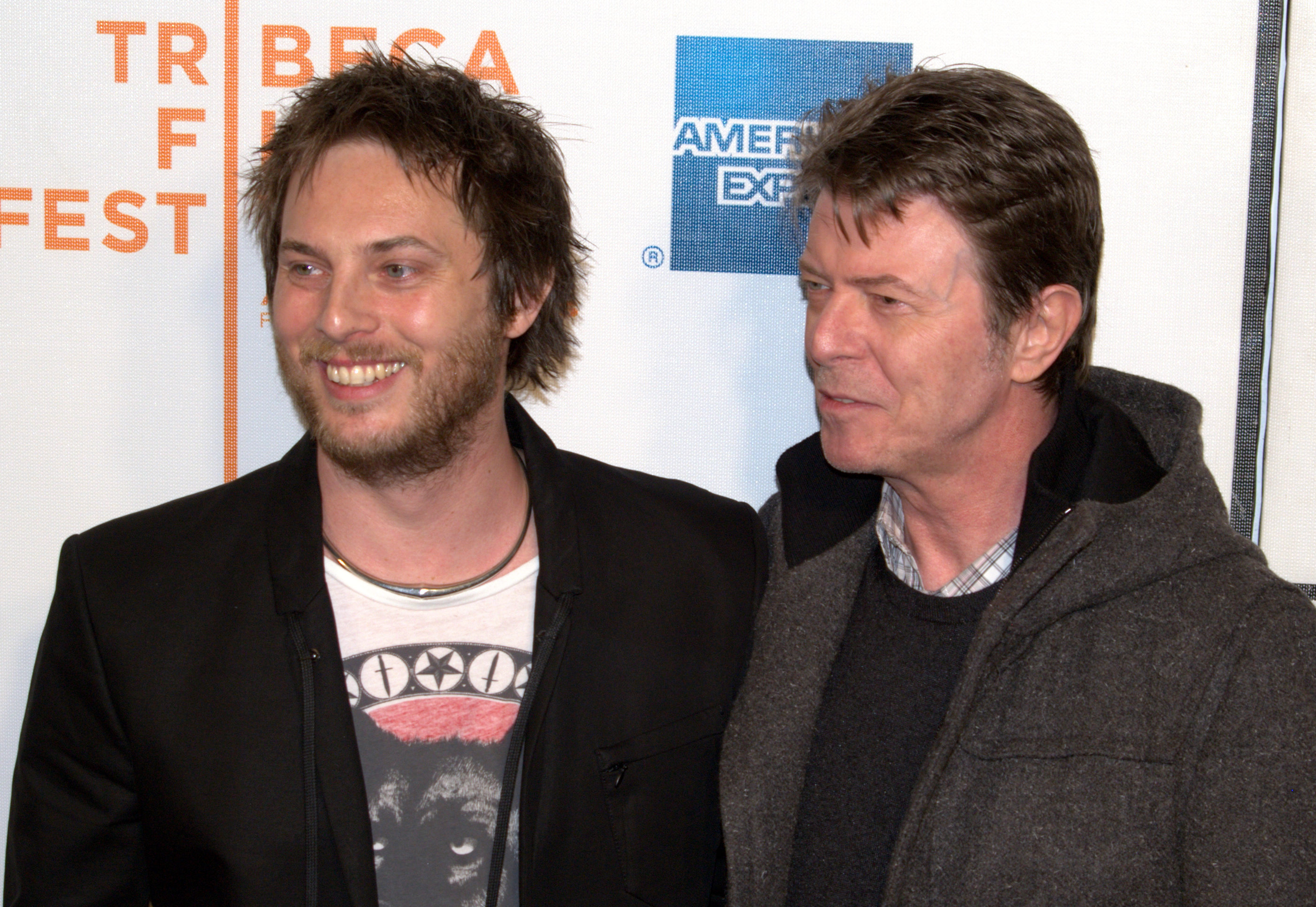Duncan Jones and David Bowie at the premiere of Moon.jpg