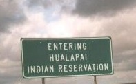Entering Hualapai Indian Reservation