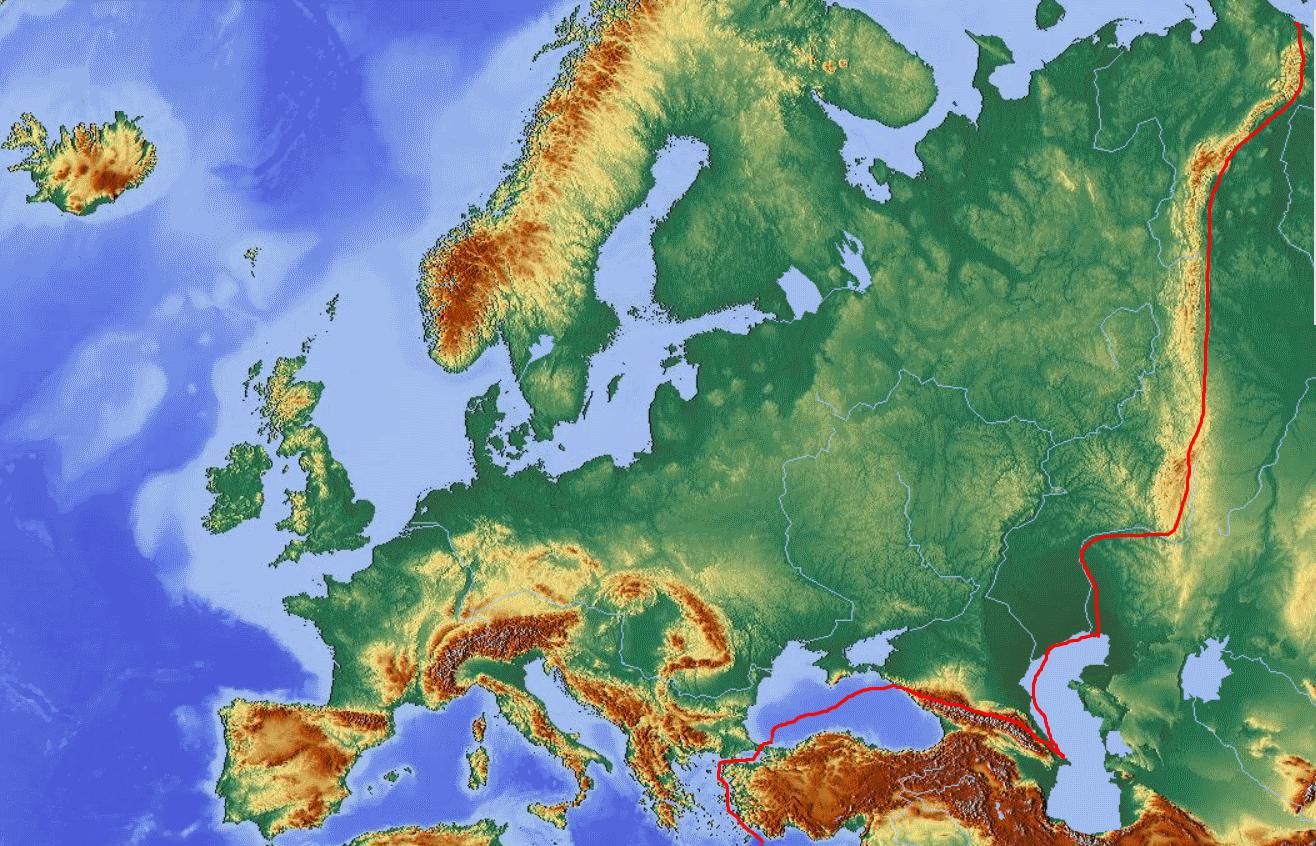 Cartina Asia Fisica.File Europa Fisica E Confine Europa Asia Png Wikimedia Commons