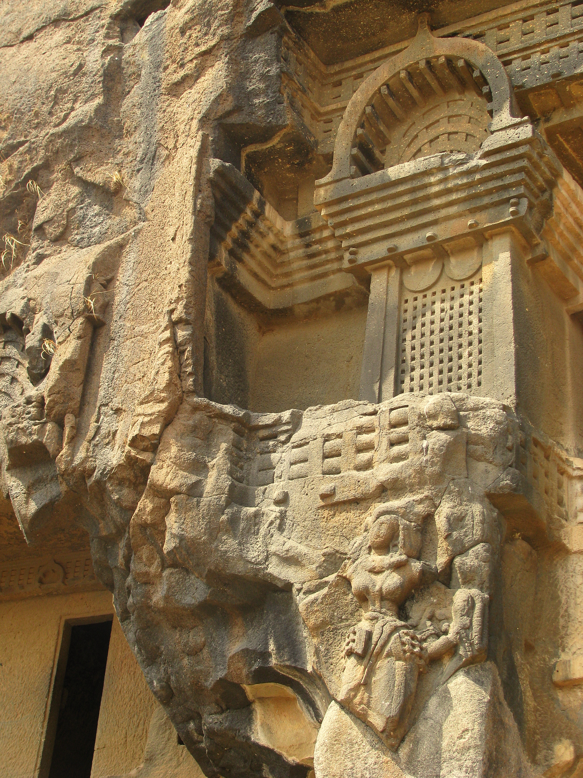 The Façade Of This Peachtree Park Abode Belies Its 9 000: File:Facade Of The Bhaja Caves, Maharashtra, India