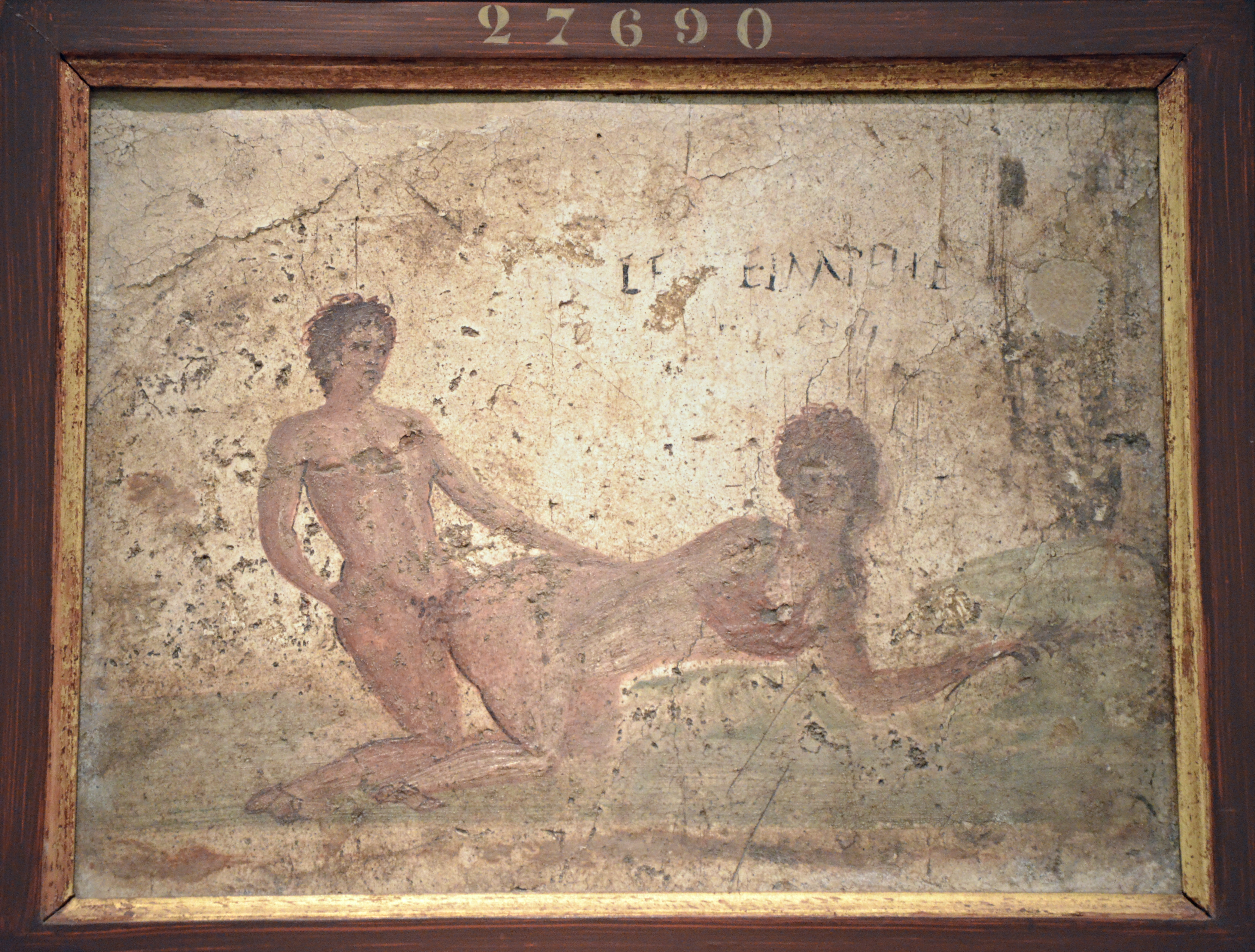 FileFragment of wall painting with erotic scene from Pompeii Naples National Archaeological & File:Fragment of wall painting with erotic scene from Pompeii ...