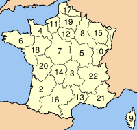 Regions administratives franceses