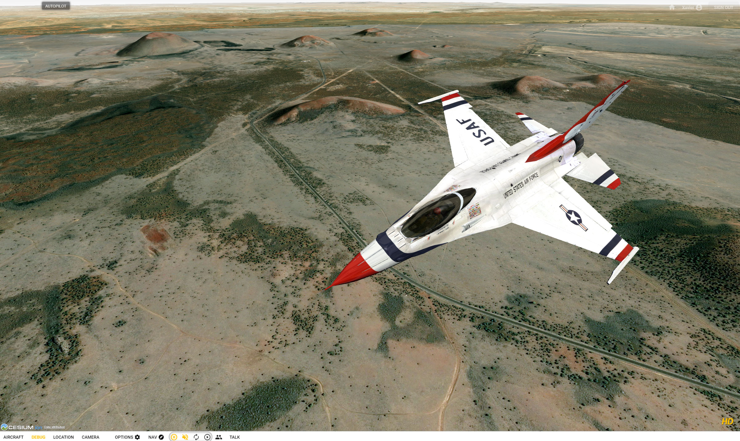 I, the copyright holder of this work, hereby publish it under the following license: English F16 Over American desert