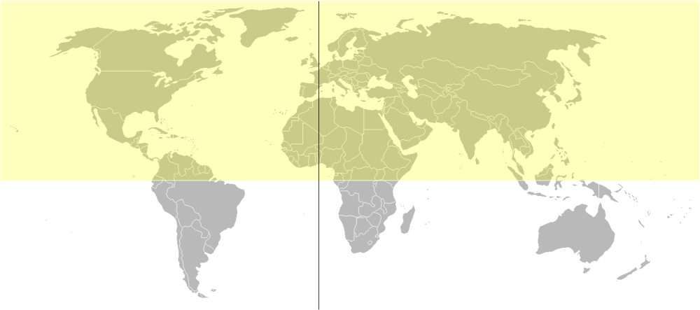 Depiction of Hemisferio norte