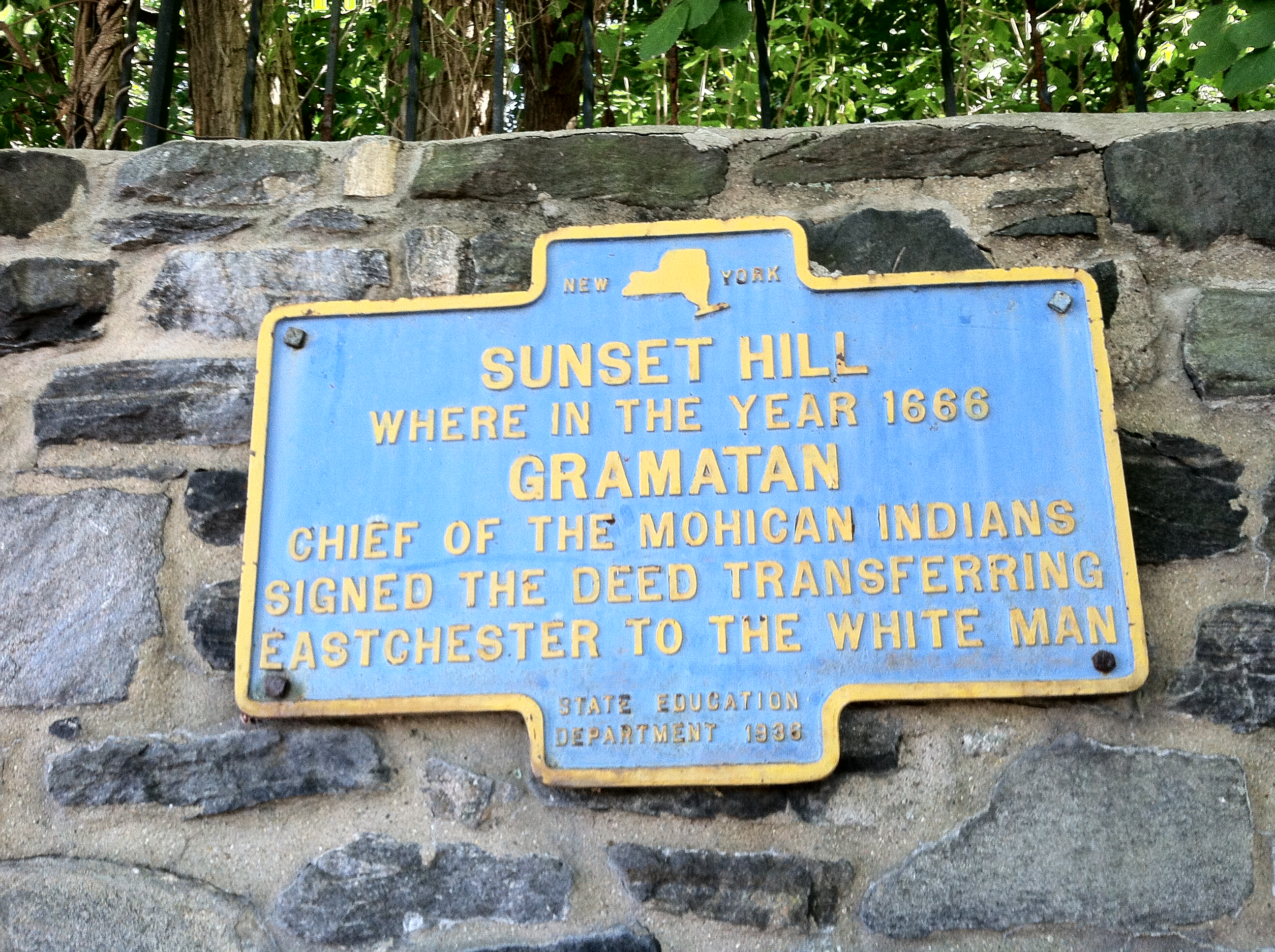 File Historical Plaque In Sunset Hill Bronxville Ny Regarding Gramatan And The
