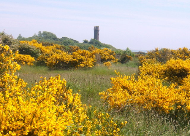Hodbarrow reserve, looking to old lighthouse - geograph.org.uk - 541829